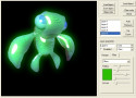 Model with glow and environmental mapping